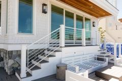 Back Porch Stair Railing