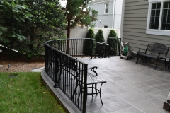 Back Terrace Radius Railing