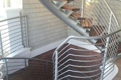 Modern Steel Helical Floating Stair