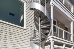 Exterior Steel Spiral Stair Case