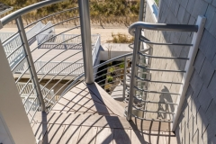 Top Deck of Steel Spiral Staircase