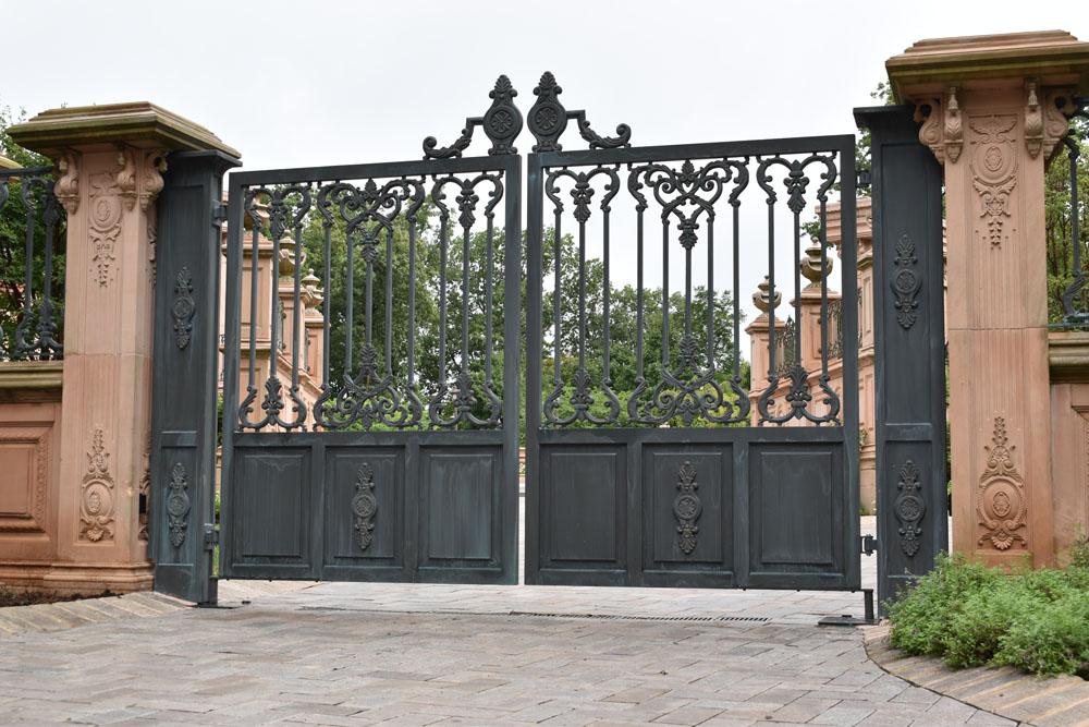 Beautiful Aged Bronze Finished Gates