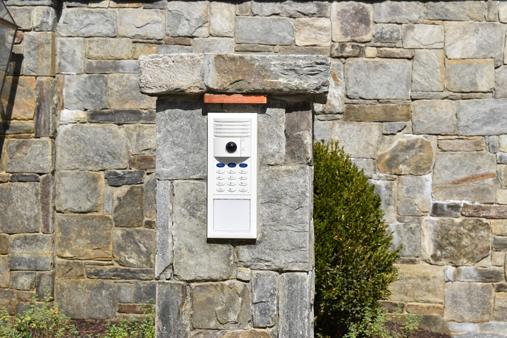 Camera at the Call Box Reporting to the Smart Home System Inside the Home