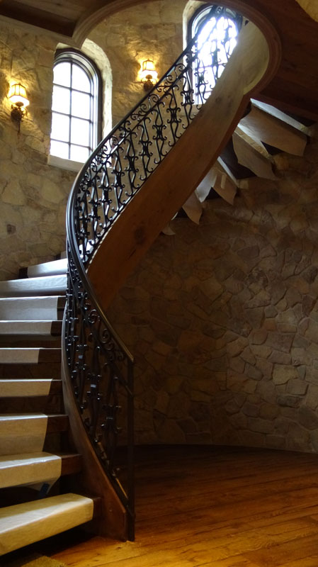 Custom Forged Turret Stairs