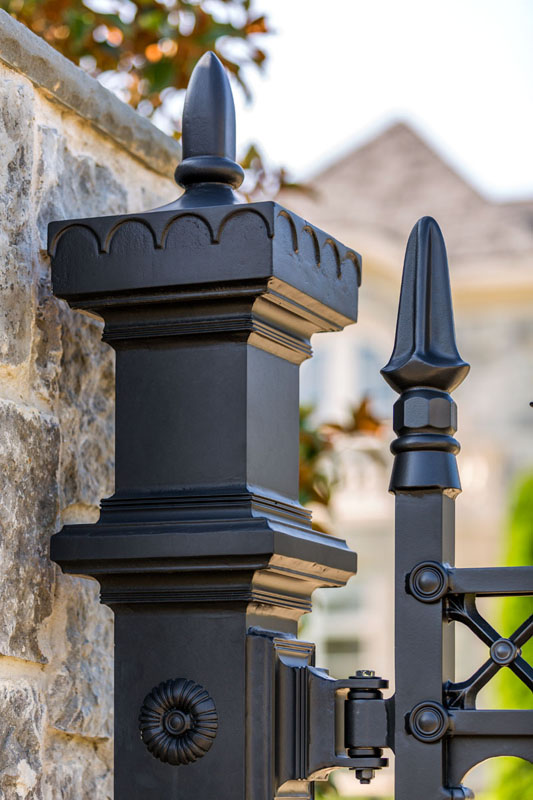 Custom Gate Post