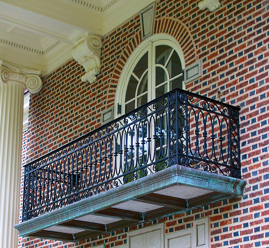 Custom Replication Iron Balcony