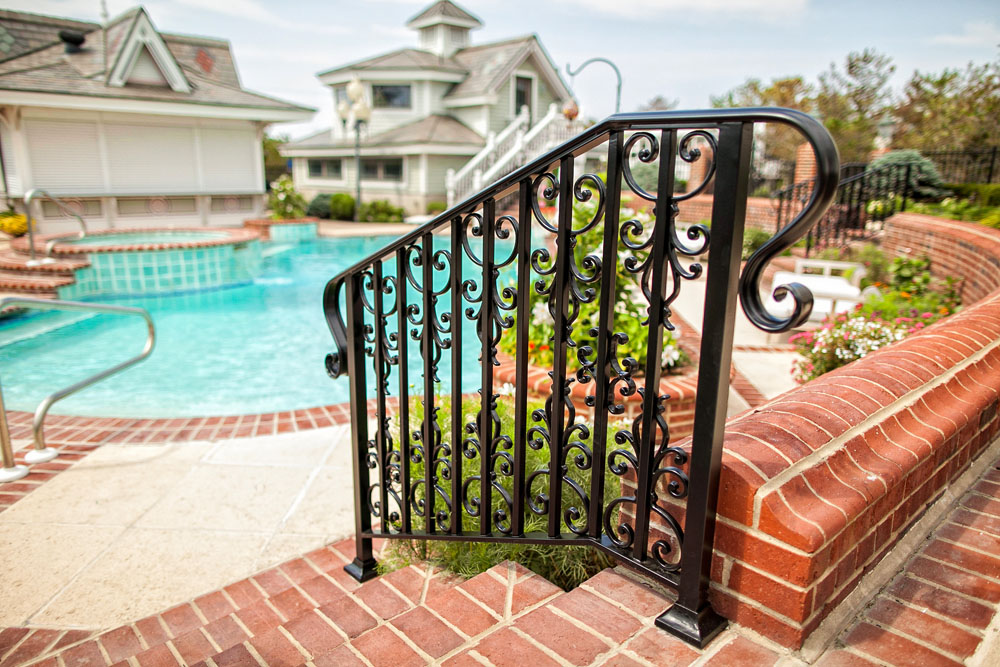 Custom Victorian Pool Rail Design