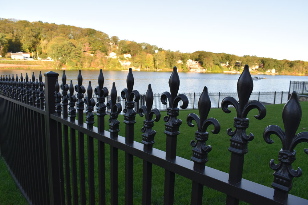 Fleur-De-Lis Security Fence on the Water Front