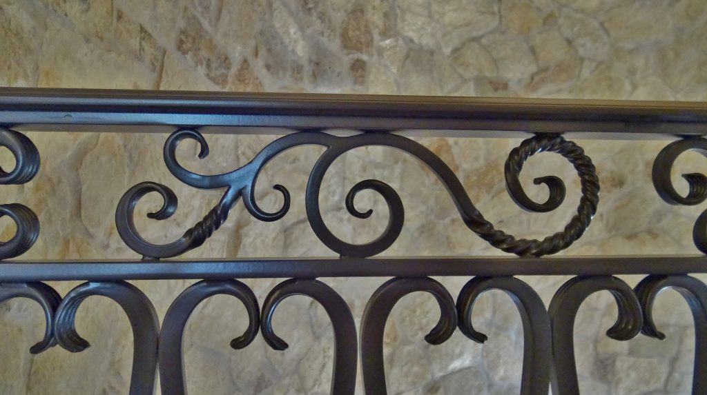 Hand Twisted Scroll for Interior Railing