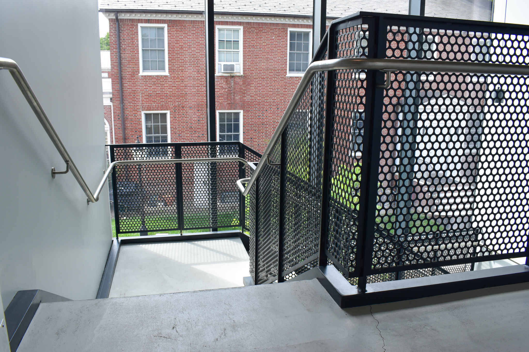 This stair design was to wrap around the 4 sides of the rectangular stair tower.