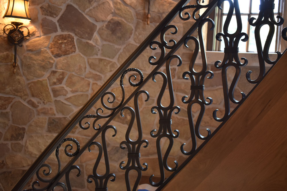 Radial Stair Silouette Hand Crafted
