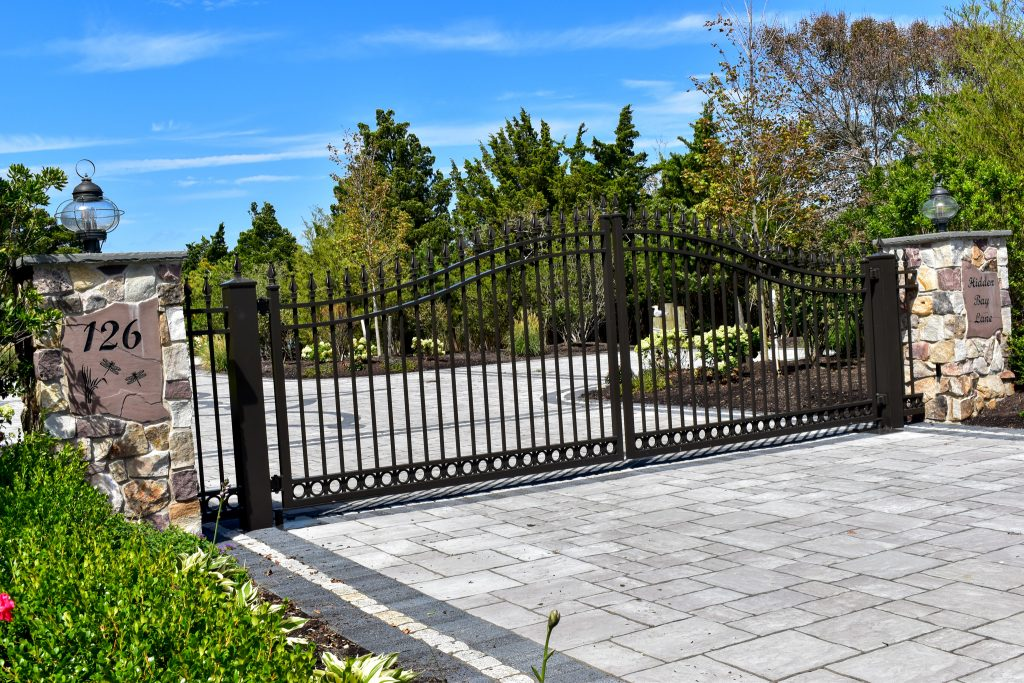 Grand Aluminum Driveway gate with a top of the line automation system.