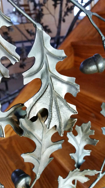 Custom Forged Leaves for a Custom Stair Railing
