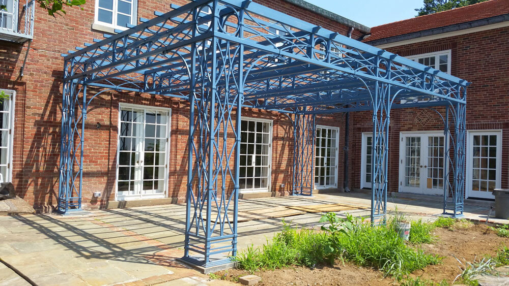 Custom Made Iron Pergola
