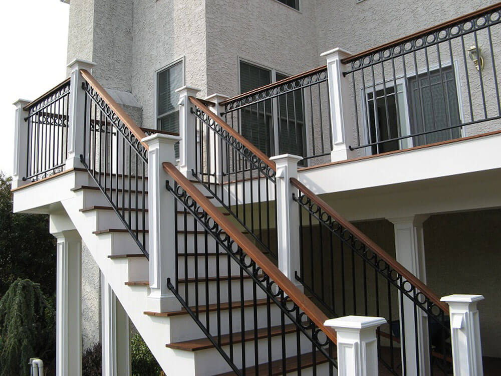 Custom Railing with Wooden Caprail