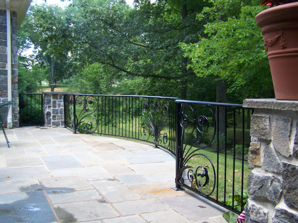 Custom Decorative Patio Railing