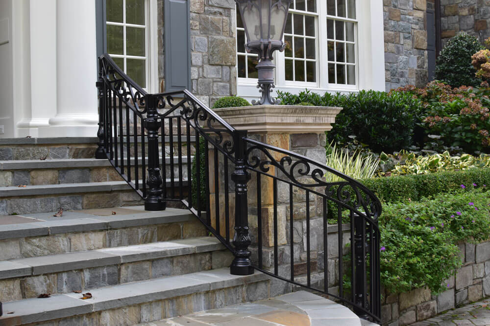 Custom Radius Stair Railing