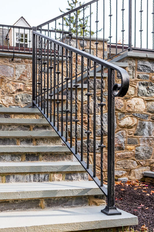 Custom Twist and Knuckle Stair Railing