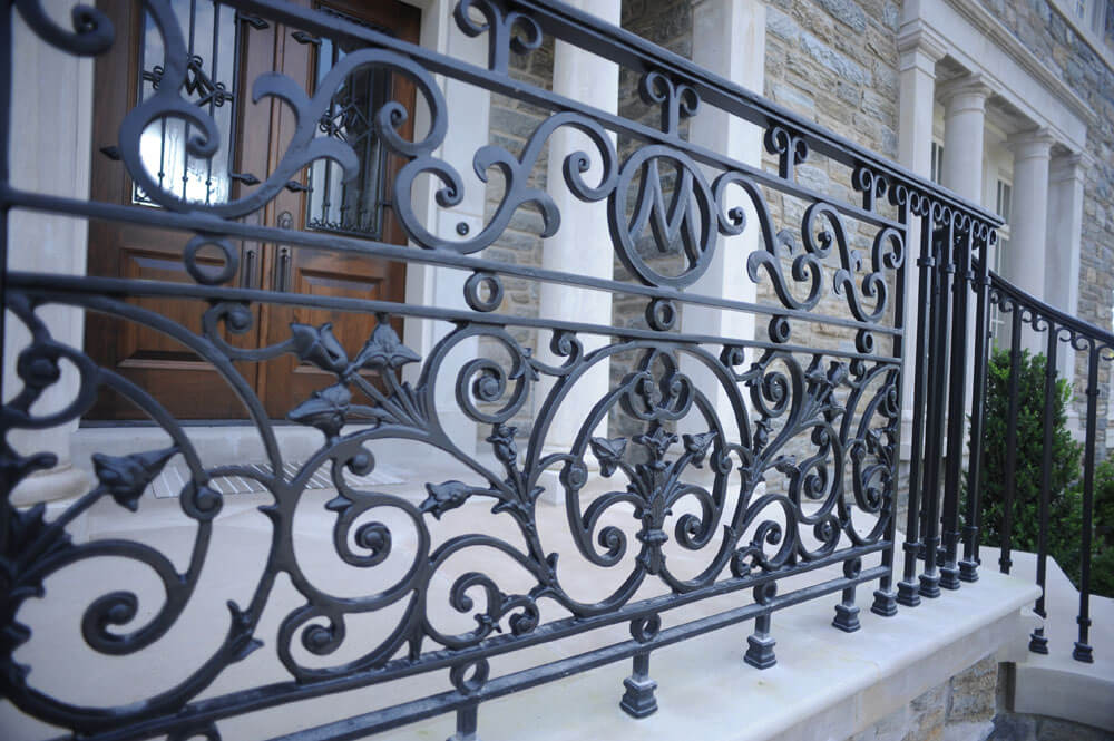 Custom Wrought Iron Railing Center Piece