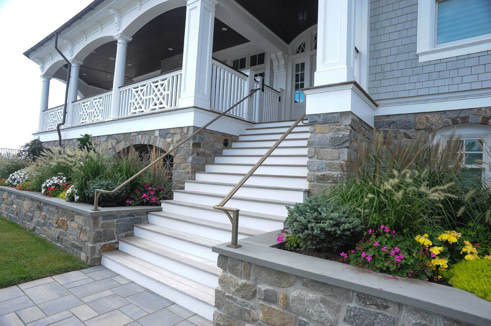 Custom Bronze Entrance Railing