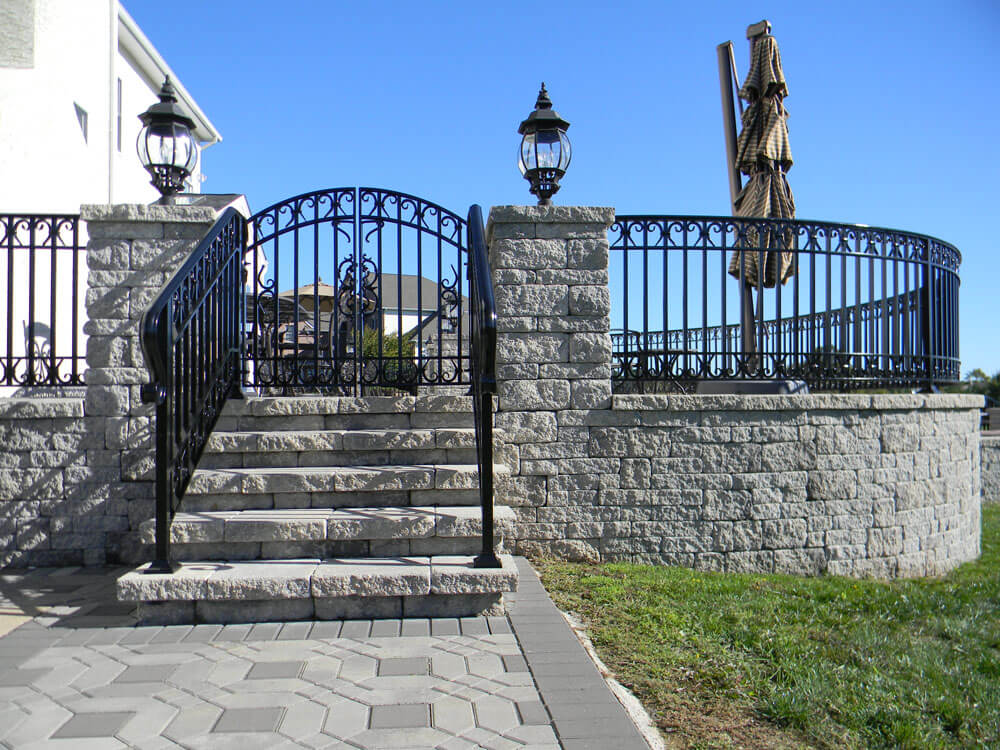 Custom Patio Railing and Pedestrian Gate