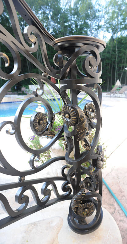 Custom Railing End