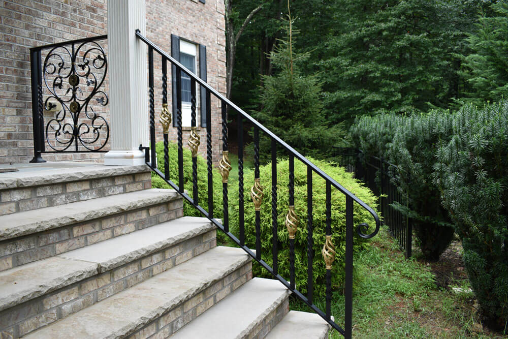 Gold Basket Entrance Stair Railing