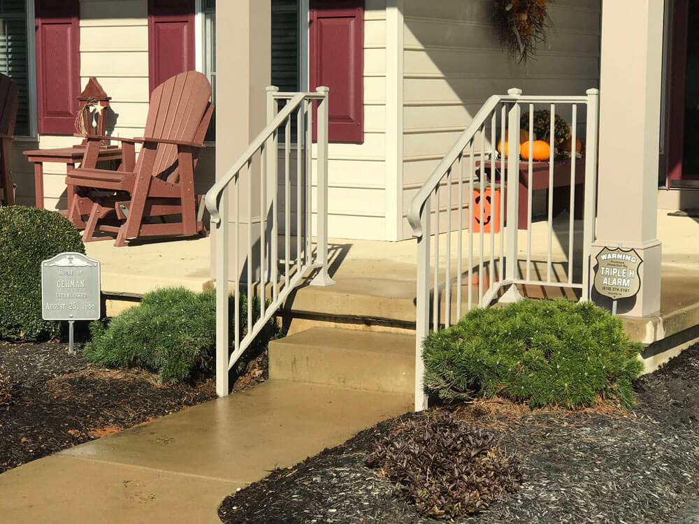 Custom Entrance Railing