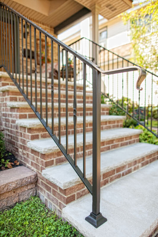 Custom Pierced Caprail Railing