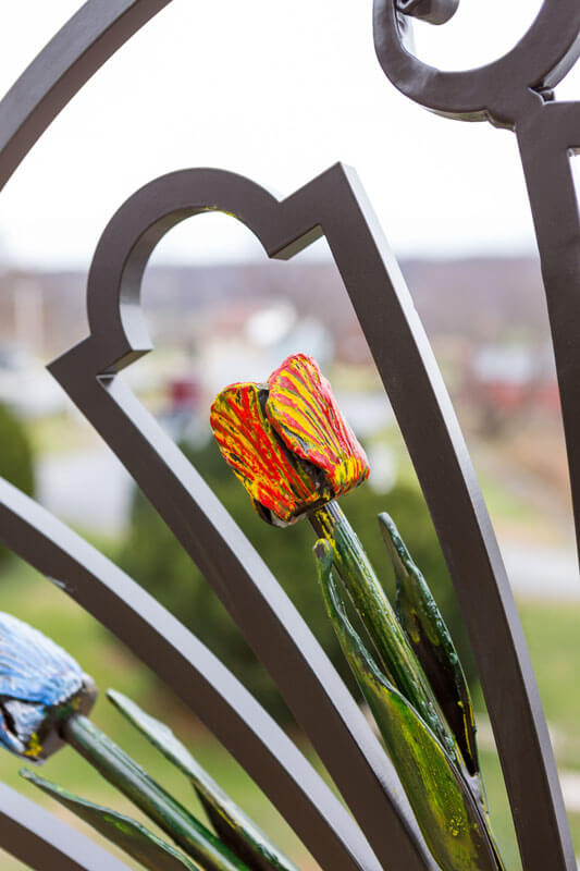 Hand Gilded Iron Flower