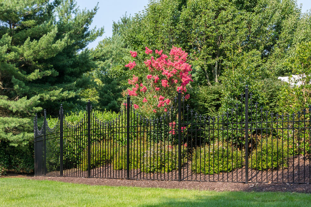 Custom Privacy Fence with Peaks