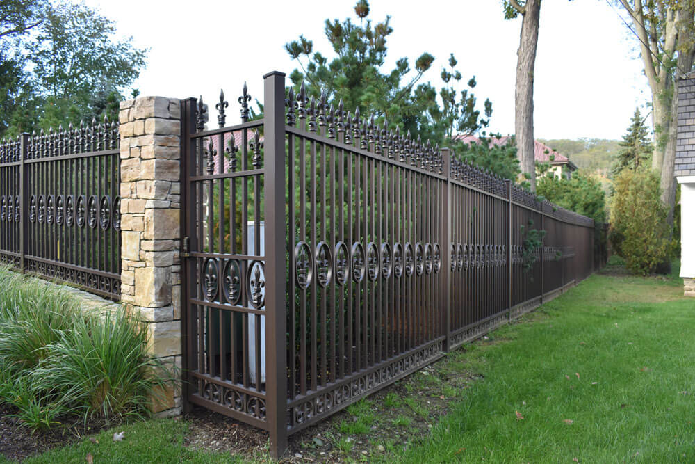 Custom Pedestrian Gate at Fence Corner