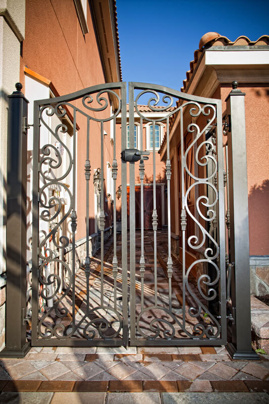 Custom Scroll-work Entrance Gate