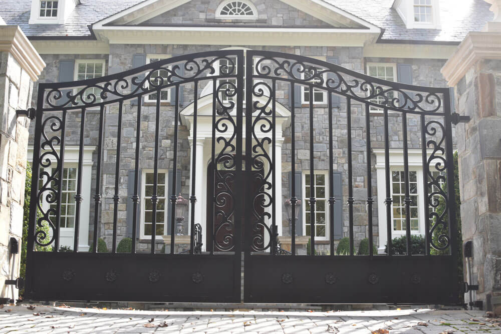 Custom Forged Automated Driveway Gate