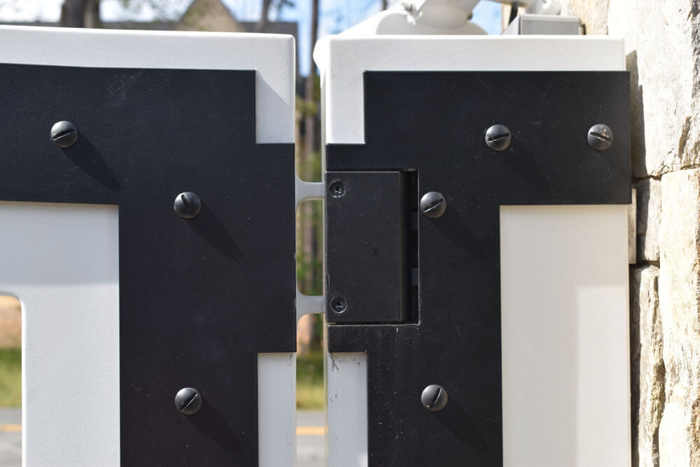 Hidden Hinges on Custom Automated Driveway Gate