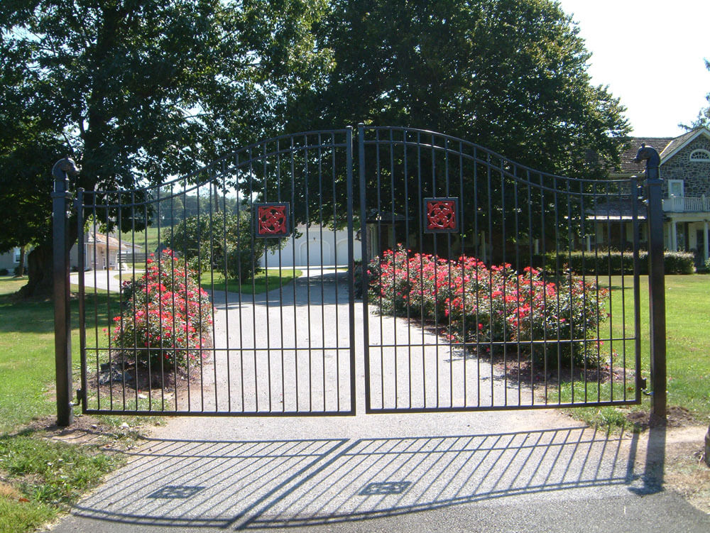 Custom Gate with Red Detail