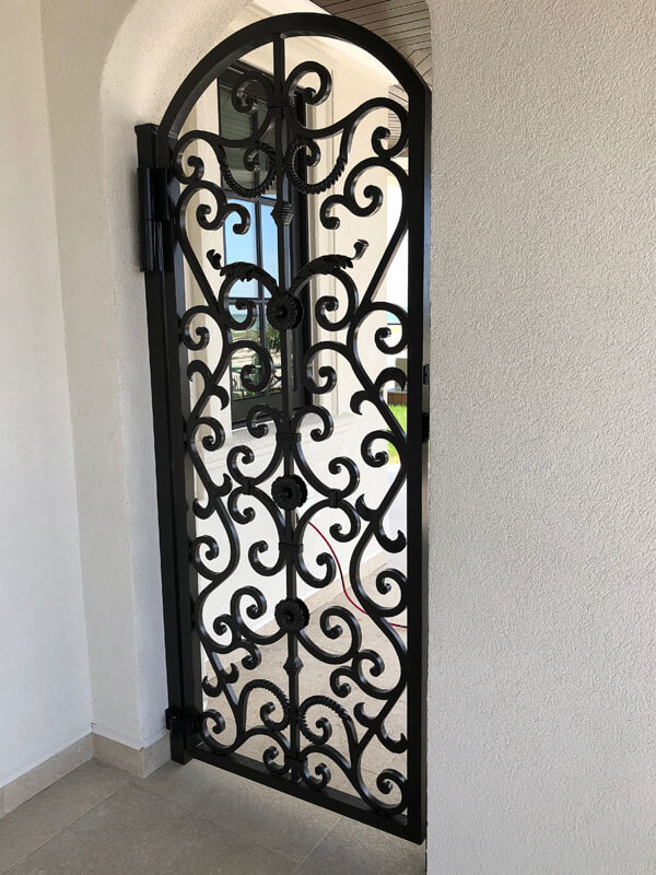 Custom Forged Pedestrian Gate