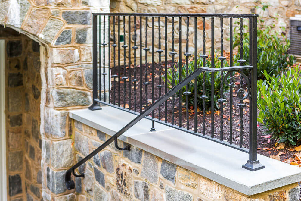 Custom Iron Handrail with Volute Ending