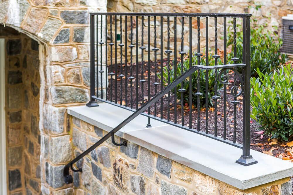 Custom Iron Handrail with Volute Ending