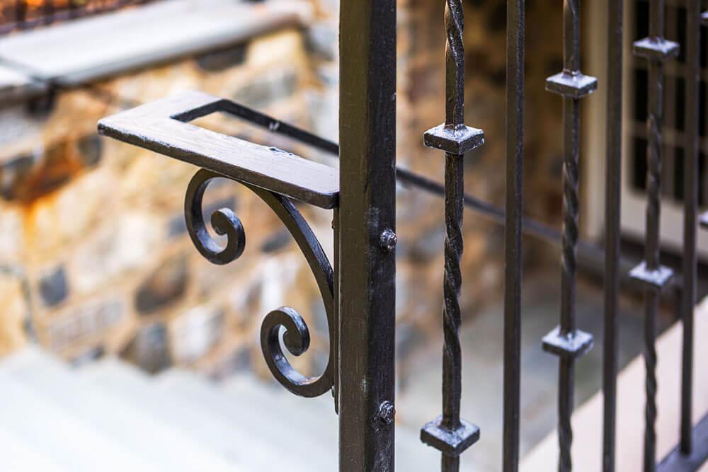 Custom Scroll Bracket for Iron Handrail