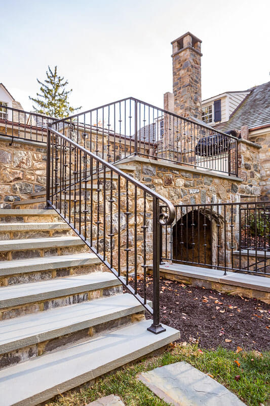 Custom Replication Iron Stair Railing