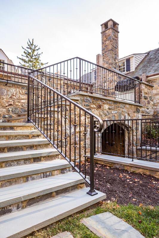 Custom Replication Iron Stair Railing