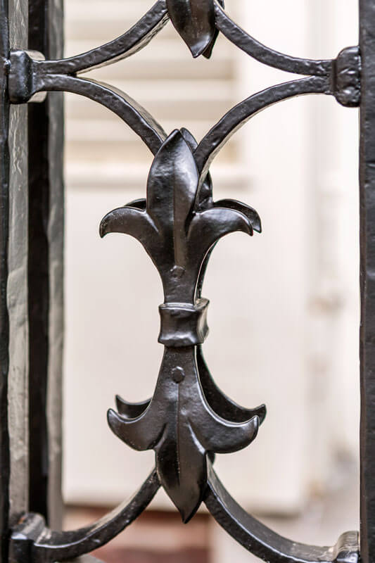 Fleur-De-Lis Detail on Balcony Railings