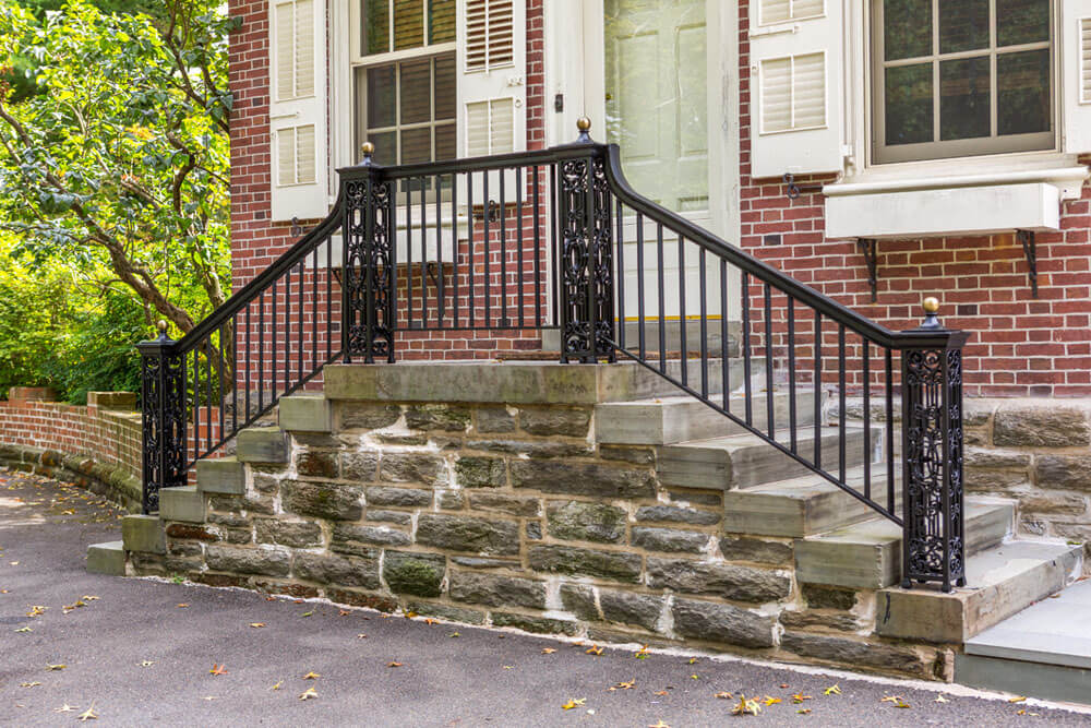 Restored Railing on Front Steps