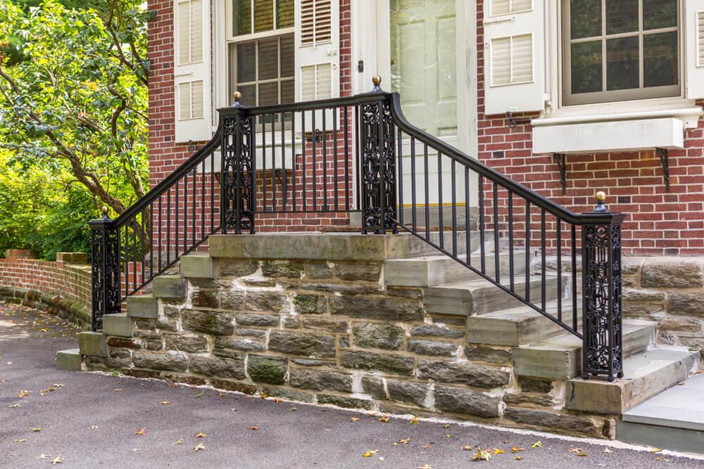 Restored Railing on Front Steps