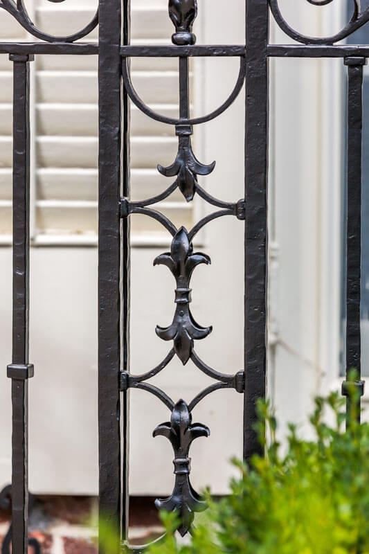 Restored Iron Railing Detail