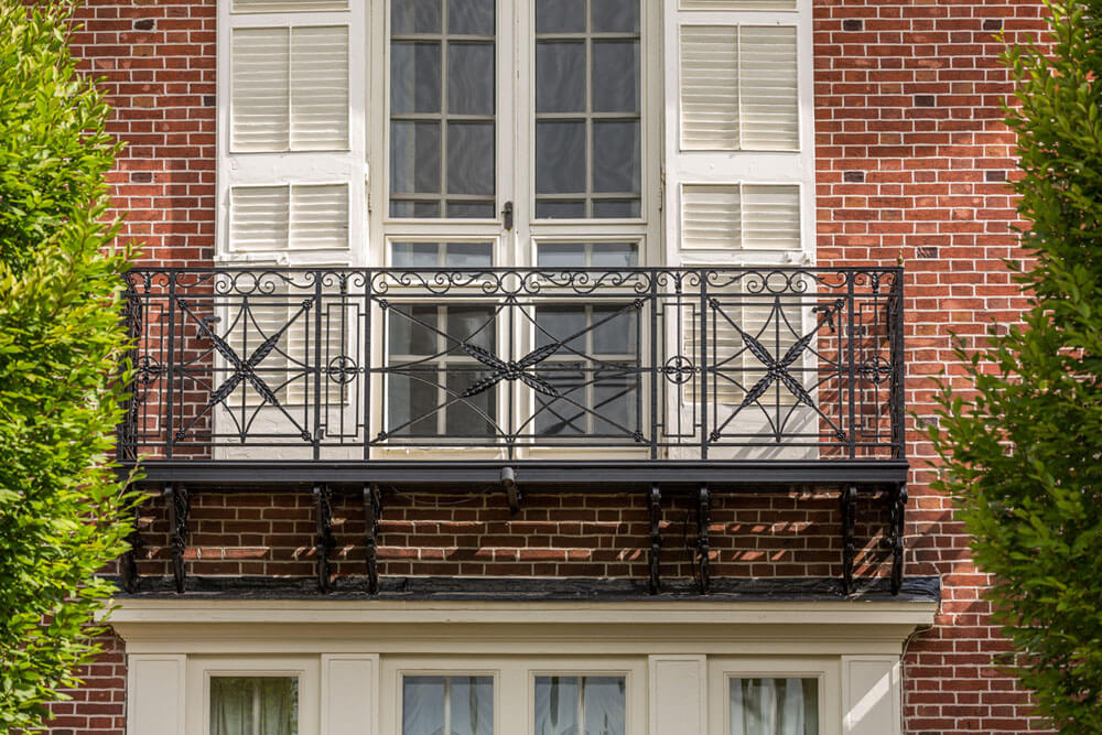 Samuel Yellin Iron Railing Restoration