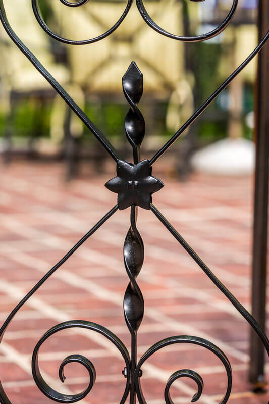 Flower detail on Small Iron Railing