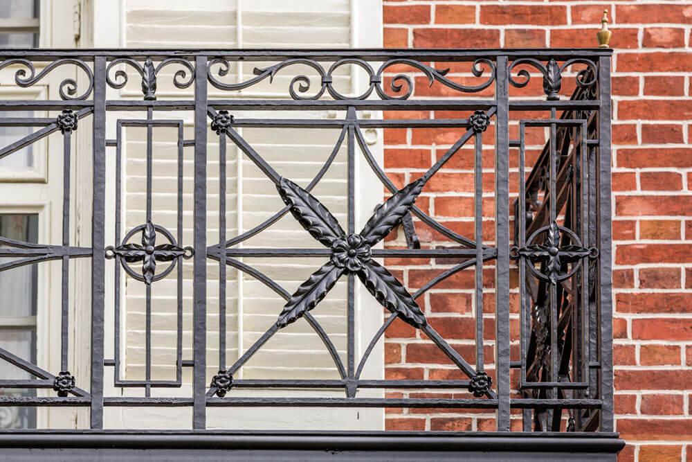 Leaf Detail on Restoration Balcony Railing