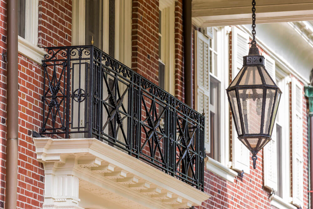 Restored Iron Balcony Railing